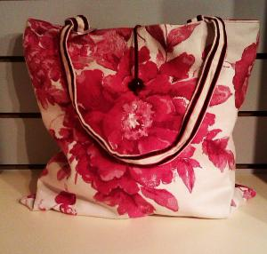 tote cranberry rose