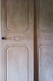 Antiqued doors