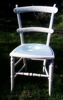 Vintage distressed chair