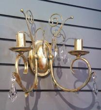 Gilded wall light