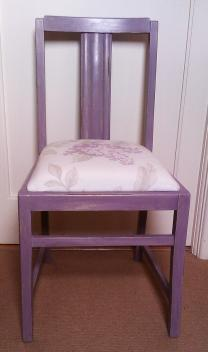 Lilac 1950's distressed chair
